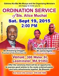 Ordination Service Flyer