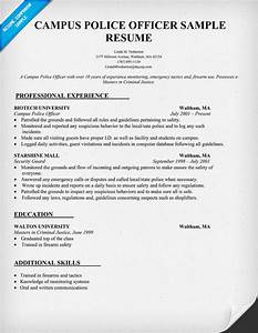 campus police officer resume sample law resumecompanion With sample resume for police officer with no experience