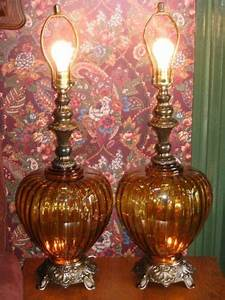 Big Glass Vintage Lamps 1960