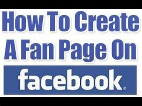 create a fan page on facebook without a profile how to create a facebook fan page youtube
