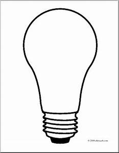 clip art light bulb 2 coloring page i abcteachcom With wiring a lamp bulb