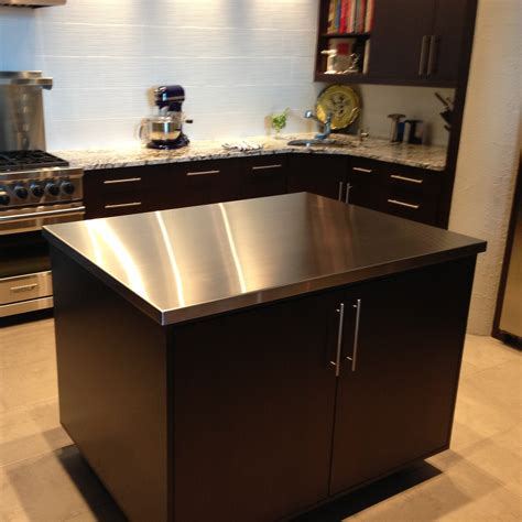 kitchen islands stainless steel top stainless steel countertops custom metal home 8300