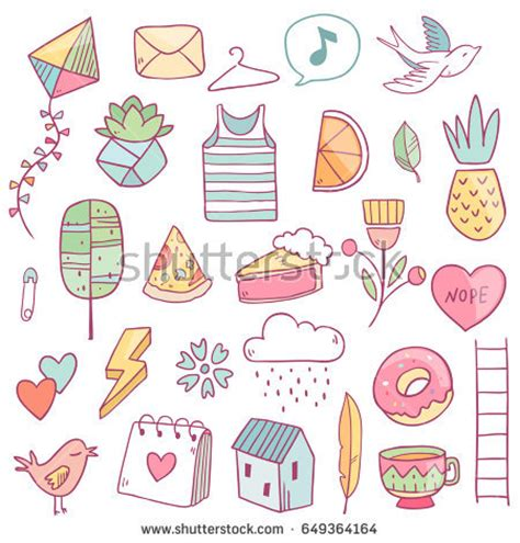 cuisine girly vector drawing girly elements stock vector