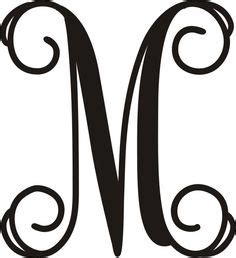 vine monogram letter  initial cricut monogram letters monogram lettering