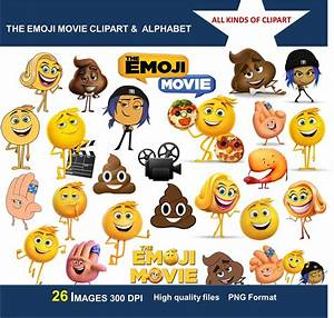 THE EMOJI MOVIE Clipart 300 Dpi Images Transparent Backgrounds