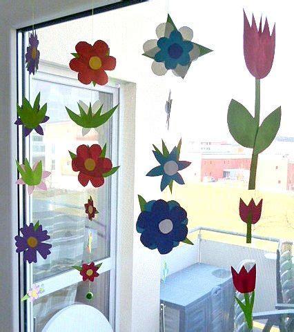Frühlingsblumen Basteln Fürs Fenster blumengirlande f 252 rs fenster pflanzen basteln meine