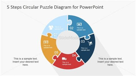 jigsaw puzzle pieces ring diagram  powerpoint