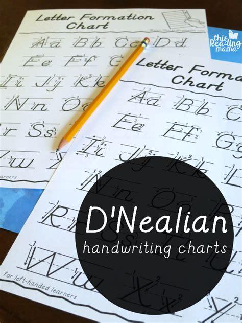 dnealian handwriting charts   reading mama