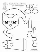 Pete Coloring Pages Cat Christmas Cut Paste Printable Activities Together Template Crafts Tree Preschool Thanksgiving Craft Glue Kindergarten Print Put sketch template