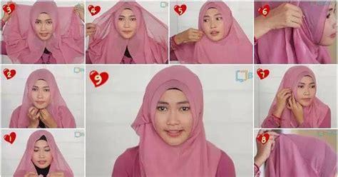 memakai jilbab segi empat  simple tapi cantik