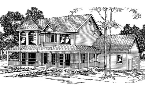 Country House Plans  Evansville 30045  Associated Designs