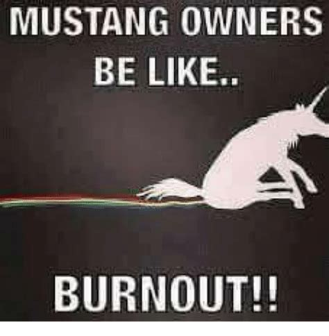 Mustang Memes - mustang owners be like burnout be like meme on sizzle