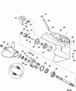 Force 40 Hp  1998  Gear Housing Assembly  Propeller Shaft