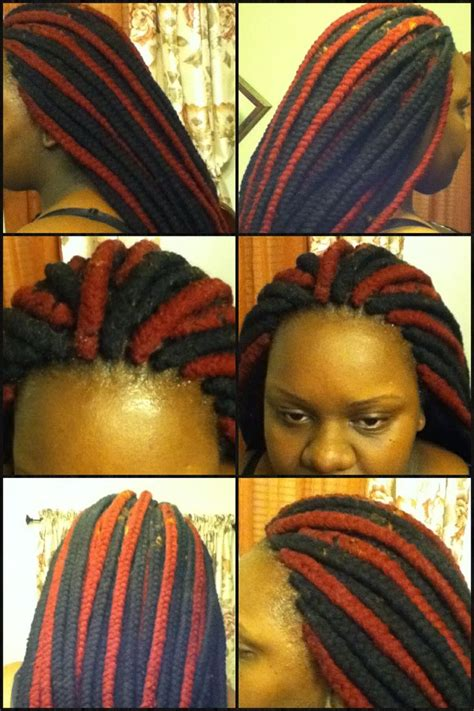 jumbo yarn braids braid style creations pinterest