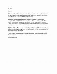 basic cover letter for a resume jantarajcom With free basic cover letter