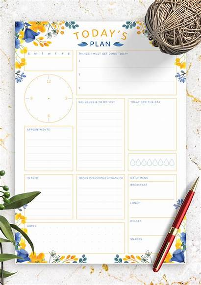 Schedule Plan Printable Planner Daily Today Template