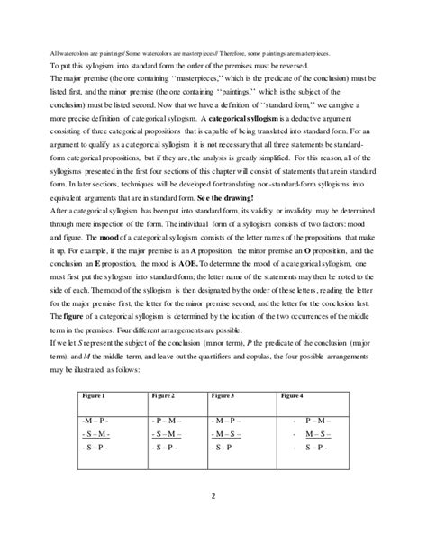intro logic ch 4 categorical syllogism
