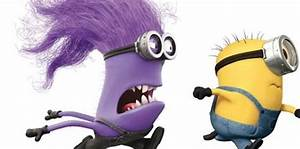 DESPICABLE ME 2 poster with purple minion chasing minions ...