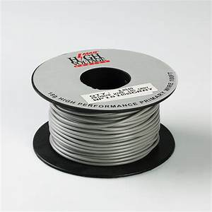100ft Gray Primary Wire 18 Gauge Awg Stranded Copper Power