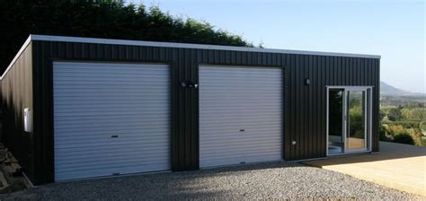 double flat roof garage  sleepout garage exterior
