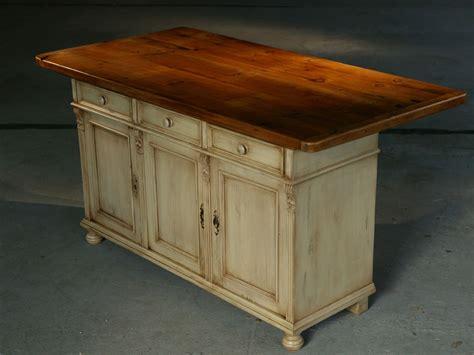 white buffet table with wood top custom kitchen island furniture european sideboard base