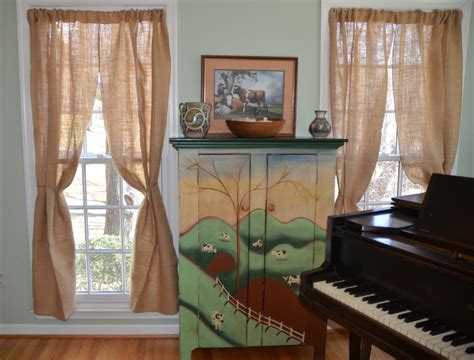 Decorating With Drapes - burlap curtains rustic style decor