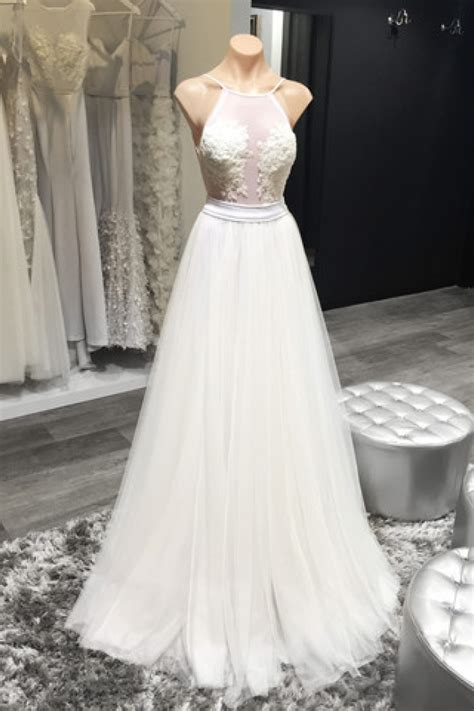 halter white sheer summer wedding dresses sexy open