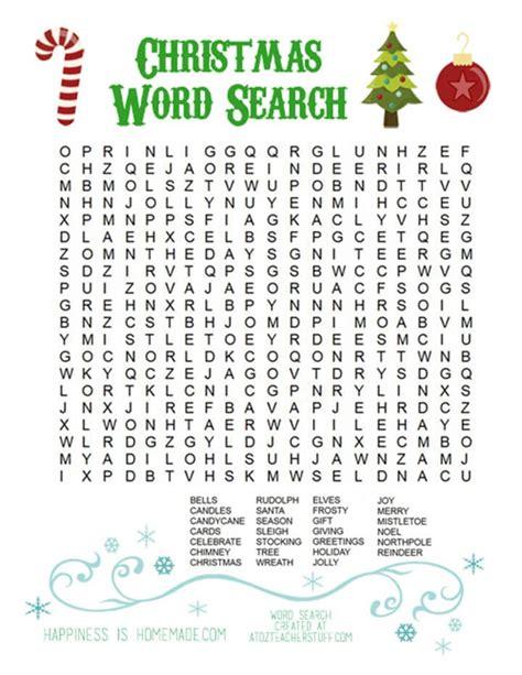 printable word search christmas printable christmas word search for kids adults
