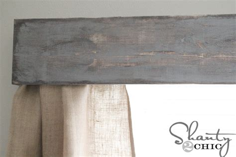 how to make a valance diy wooden window cornice shanty 2 chic
