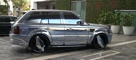 chrome range rover nasty chrome wrapped range rover car tuning