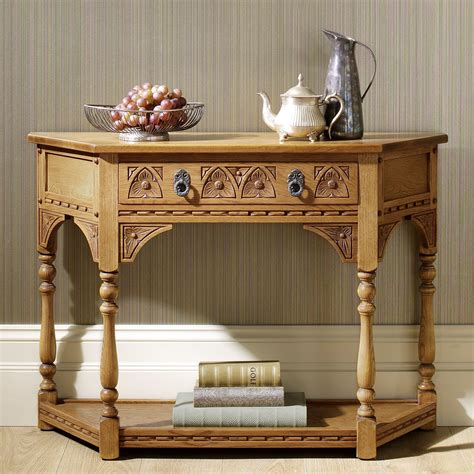 charm canted console table choice furniture