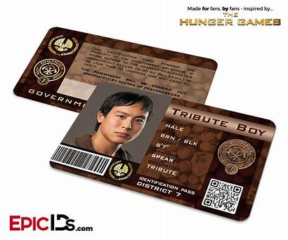 District Tribute Hunger Games Card Panem Identification