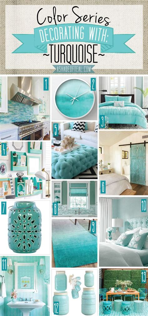 Decorating Ideas For Bedroom With Teal Walls by Color Series Decorating With Turquoise Color Series