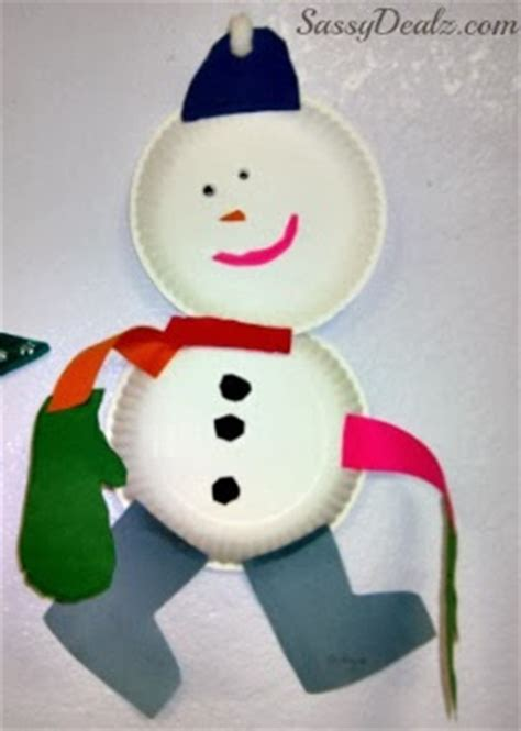 snowman arts and crafts diy snowmen paper plate winter craft for crafty 5448