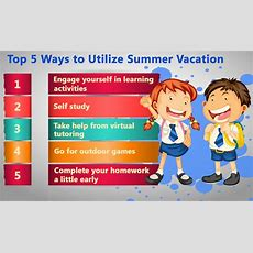Five Things Students Must Do This Summer Vacation