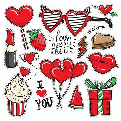 Valentine Stickers Valentines Vector Element Scrapbook Clipart
