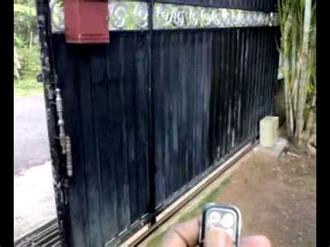 cost remote control auto sliding gate mechanism youtube