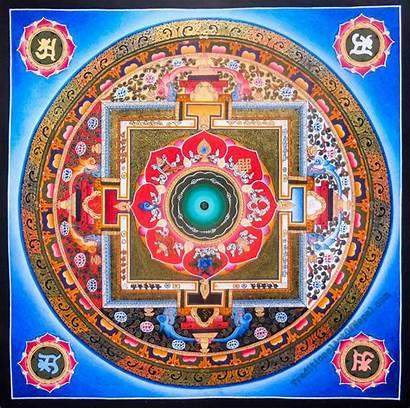 Mandala Symbols Auspicious Painting Tibetan Eight Traditionalartofnepal