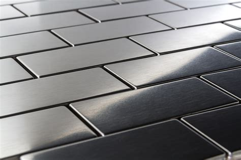 stainless steel tile stainless steel mosaic tiles backsplash metal mosaic tiles
