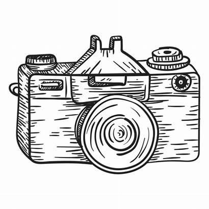 Camera Sketch Line Drawing Clip Transparent Vector