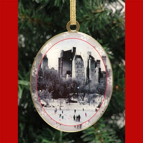 wollman rink central park new york christmas ornament from