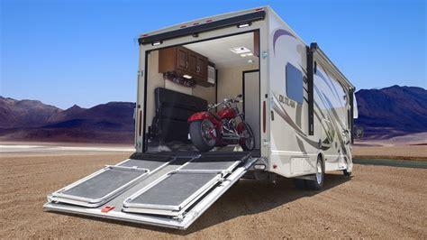 toy haulers motorhomes  garage   motorcycles