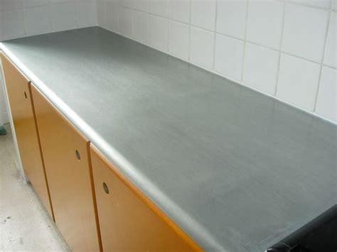plan de travail en zinc pour cuisine plan de travail en zinc cuisine avec intégration
