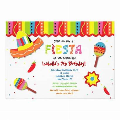 Fiesta Mexican Invitations Birthday Blank Templates Party