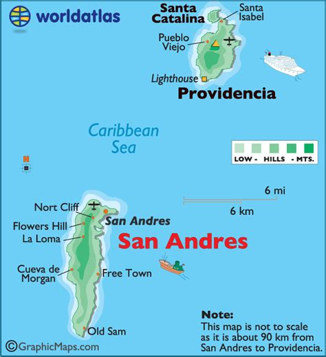 san andres large color map map  san andres san andres