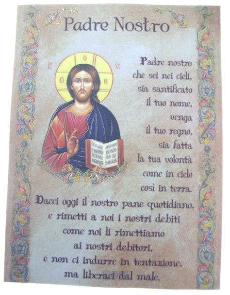 testo padre nostro pergamena ricordo sacramenti cm 18x24 padre nostro