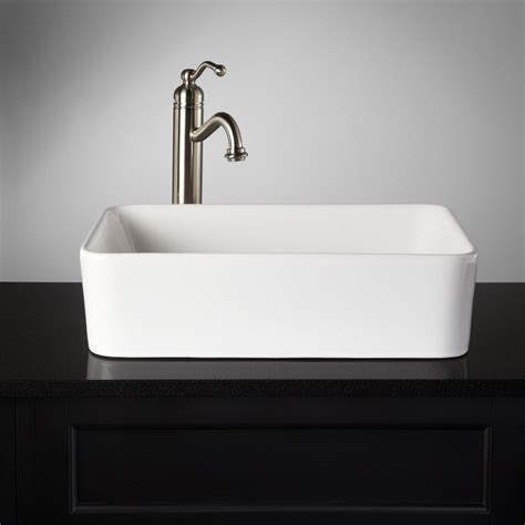 rectangular vessel bathroom sinks blanton rectangular porcelain vessel sink bathroom sinks