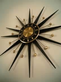 Vintage Starburst Sunburst Clock