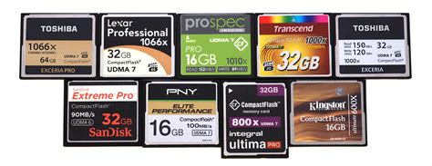 Top 10 Best Compact Flash Memory Cards 2015
