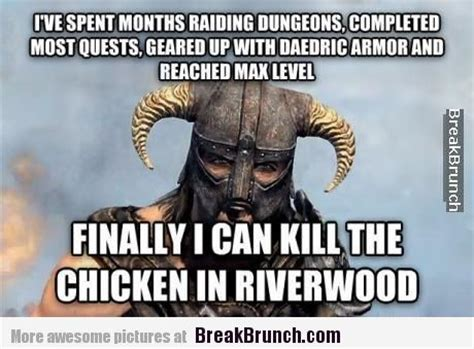 Funny Skyrim Memes - finally i can kill the chicken in riverwood skyrim gamer logic pinterest skyrim and gaming